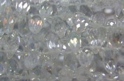 1 facetierter Tropfen 6x13 mm Crystal AB-galvanisiert