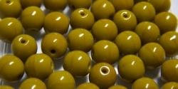 #15.00 25 Stück Perlen rund - opak goldenrod - Ø 6 mm