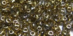 #89 10g Preciosa® TwinBeads crystal halb-gold