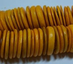 1 Strang Kokos-Linsen Ø ca. 20mm - orange yellow (ca. ± 45 Stück