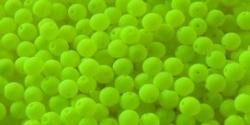 #67 50 Stück Perlen rund - samtig neon gelb -Ø 4 mm