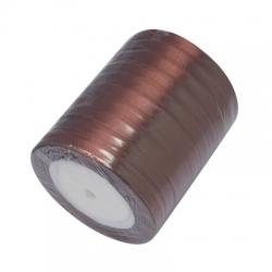 1 Rolle Satinband - braun - 06 mm