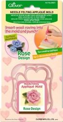 1 Stck. Clover - Needle Felting Appliqué Mold Rose
