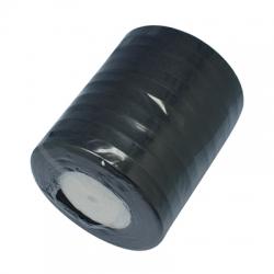 1 Rolle Organzaband - schwarz - 12 mm