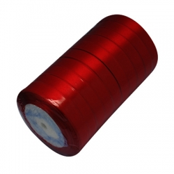 1 Rolle Satinband - dkl. rot - 20 mm