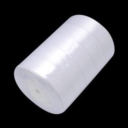 1 Rolle Satinband - weiß - 25 mm