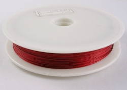 1 Rolle Tiger Tail nylonummantelt 0,38 mm - red - 50m