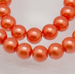 #03 20 Stück - 6,0 mm Glaswachsperlen - peach