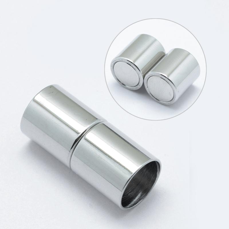 1 Magnet Verschluss Ø 20x9mm zum Kleben Edelstahl Hochglanz