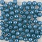 #13 50 Stück Perlen rund Ø 5 mm - opak denim blue perl