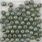 #14 50 Stück Perlen rund Ø 5 mm - opak chalk white lazure blue