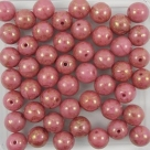 #05.01 25 Stück Perlen rund - opak rosé goldluster - Ø 6 mm