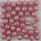 #05.02 25 Stück Perlen rund - opak rosé hematit - Ø 6 mm