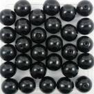 #13 25 Stück Perlen rund - Ø 8mm jet