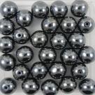 #15 25 Stück Perlen rund - Ø 8mm hematit