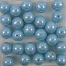#17 25 Stück Perlen rund - Ø 8mm lt blue hematit