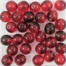 #18 25 Stück Perlen rund - Ø 8mm tr siam/garnet