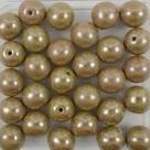#22 25 Stück Perlen rund - Ø 8mm opak goldenrod hematit