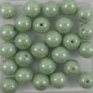#25 25 Stück Perlen rund - Ø 8mm opak weiß olivecoating