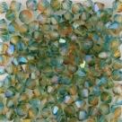 #64.00 - 25 Stück - 4,0 mm Crystal Bicone tr. hyacinth teal AB