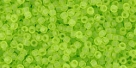 5g TOHO SeedBeads 15/0 TR-15-0004 F - Tr.-Frosted Lime Green