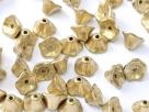 #05.00 25 Stück Trichterblüten 7x5 mm aztec gold
