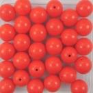 #18a 25 Stück Perlen rund - Ø 8mm opak coral
