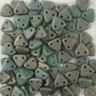 #13 10g Triangle-Beads 6mm - turquoise - copper picasso