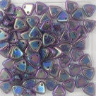 #06 10g Triangle-Beads 6mm - tanzanite purple iris