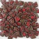 #27 10g Triangle-Beads 6mm - red picasso