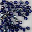#08 25 Stück - 5,0 mm Glasschliffperlen - cobalt celsian