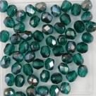 #11 25 Stück - 5,0 mm Glasschliffperlen - emerald half bronze