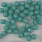 #14 25 Stück - 5,0 mm Glasschliffperlen - opak green turquoise