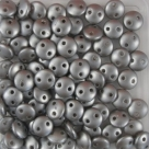 #51 - 50 Stück Two-Hole Lentils 6mm - Met. Pearl Coat Silver