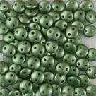 #54 - 50 Stück Two-Hole Lentils 6mm - Met. Pearl Coat Olive
