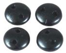 #56 - 50 Stück Two-Hole Lentils 6mm - Met. Pearl Coat Charcoal