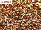 #087 10g SuperDuo-Beads jet california gold rush