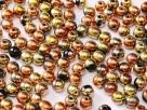 #86 50 Stück Perlen rund - jet california gold rush - Ø 4 mm