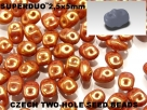 #89 10g SuperDuo-Beads chalk white gold luster