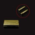 1 Magnet-Verschluss 37x18x7mm zum Kleben - antique bronzefarben