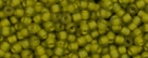 10 g TOHO Seed Beads 11/0 TR-11-0246 F - Inside-Color Matte Luster Black Diamond/Opaque Yellow (E)