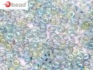 #37 5g O-Beads crystal blue rainbow