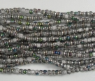 #60 - 1 Strang Perlen Ø 2 mm rund - crystal vitrail