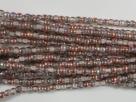 #61 - 1 Strang Perlen Ø 2 mm rund - crystal copper rainbow