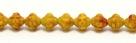#02 25 Stück Fizgigs - Ø 6 mm - op. gelb/orange
