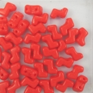 #15.0 - 25 Stück Two-Hole ZET Beads 5x6mm - red