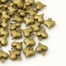 1 Herz 9x11 mm - bronze