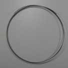 1 x  Memory Wire Necklace Silver Color