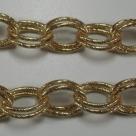 50 cm Gliederkette Aluminium Oval Ø ± 20x14mm Gold