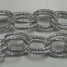 50 cm Gliederkette Aluminium Oval Ø ± 20x14mm Silber
